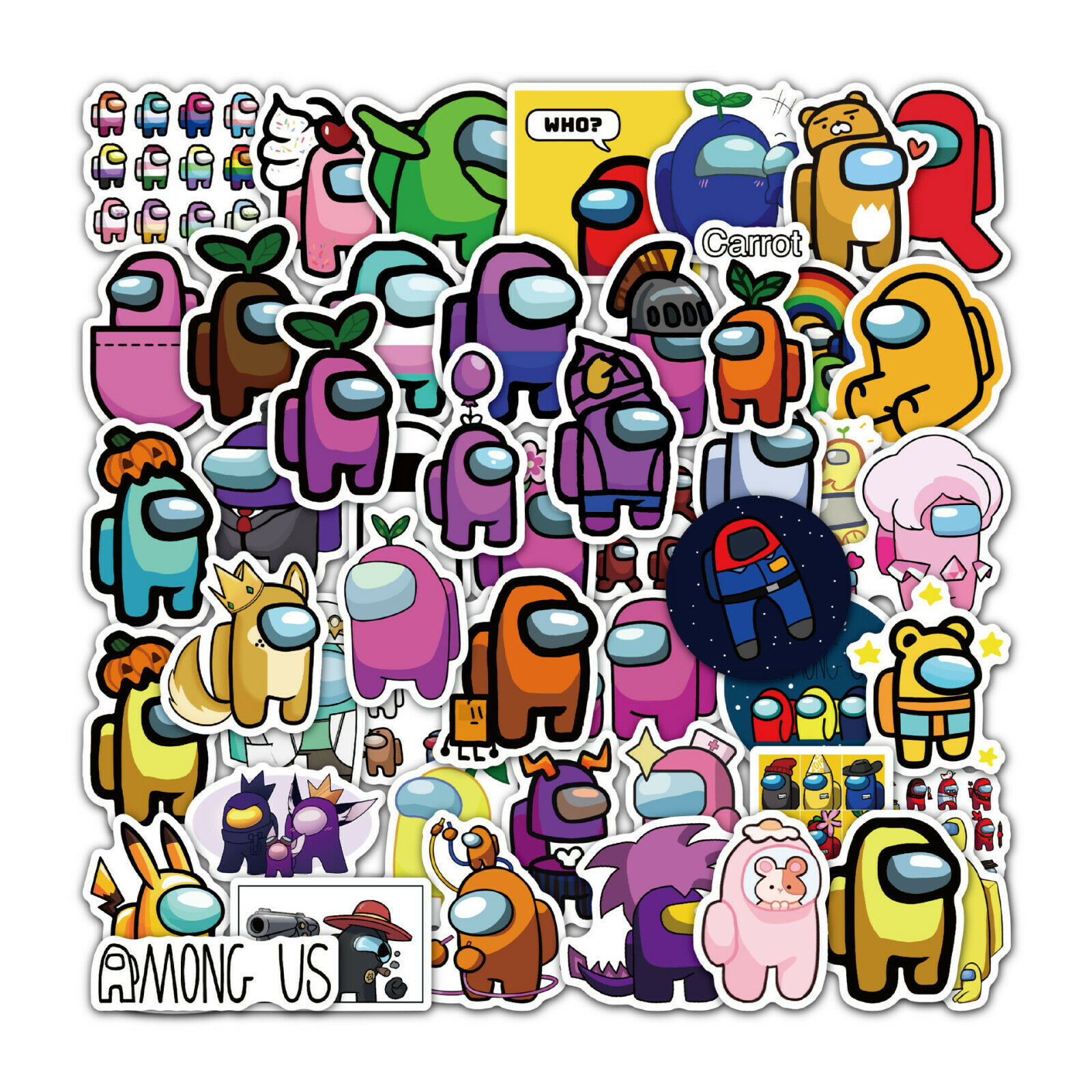 Home Decoration - 100pcs Among us Stickers for laptop, Hydroflask, Skateboard, waterproof vinyl