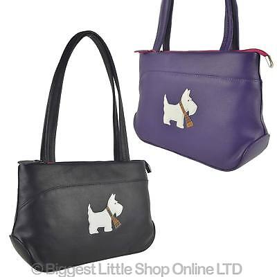 NEW Ladies LEATHER Shoulder BAG Mala; Best Friends Scotty Dog Collection