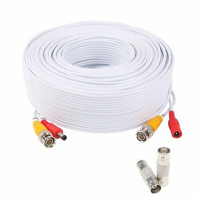 Security Camera Extension Wire (200ft Power Video Security Camera BNC Cable CCTV Wire Cord w Extension Connector )