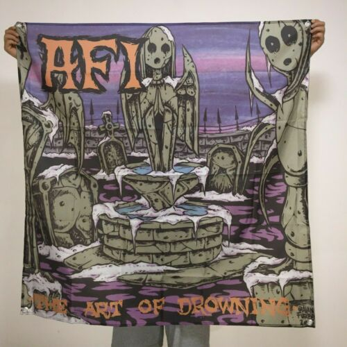 AFI Banner The Art Of Drowning Cover Tapestry A Fire Inside Flag Poster 4x4ft