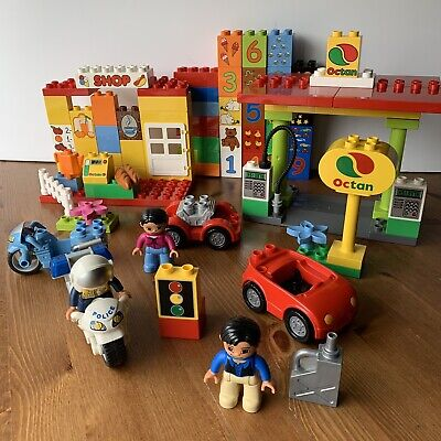 LEGO Duplo Lot Set 6171 My First Gas Station Market, 5679 Police, Numbers +XTRAs