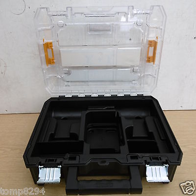 DEWALT TSTAK 10.8V DCK211D2T  CLEAR LID STORAGE CARRYING CASE
