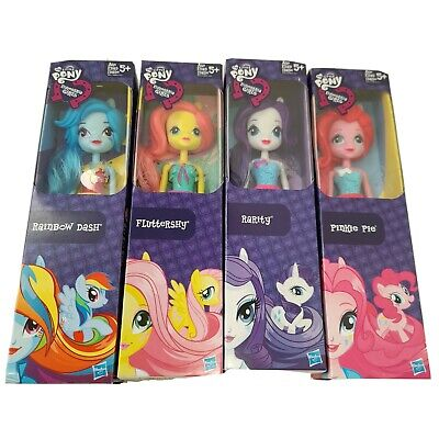My Little Pony Equestria Girls Doll Figures Lot 4 Rarity Rainbow Dash Pinkie MLP