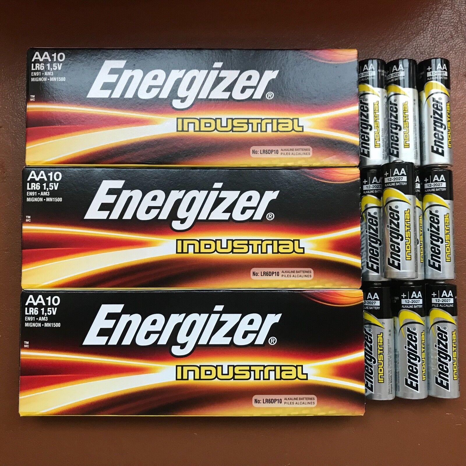 30 X Energizer Aa Industriell Batterien LR6 Alkalisch Langlebig 1.5 V Batterie