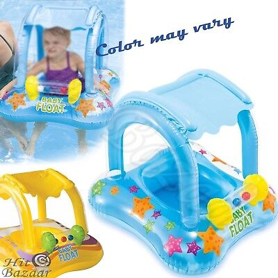 Swim Tube (BABY FLOAT SWIMMING Pool Infant Kiddie Tube Raft With Canopy Safety Kids)