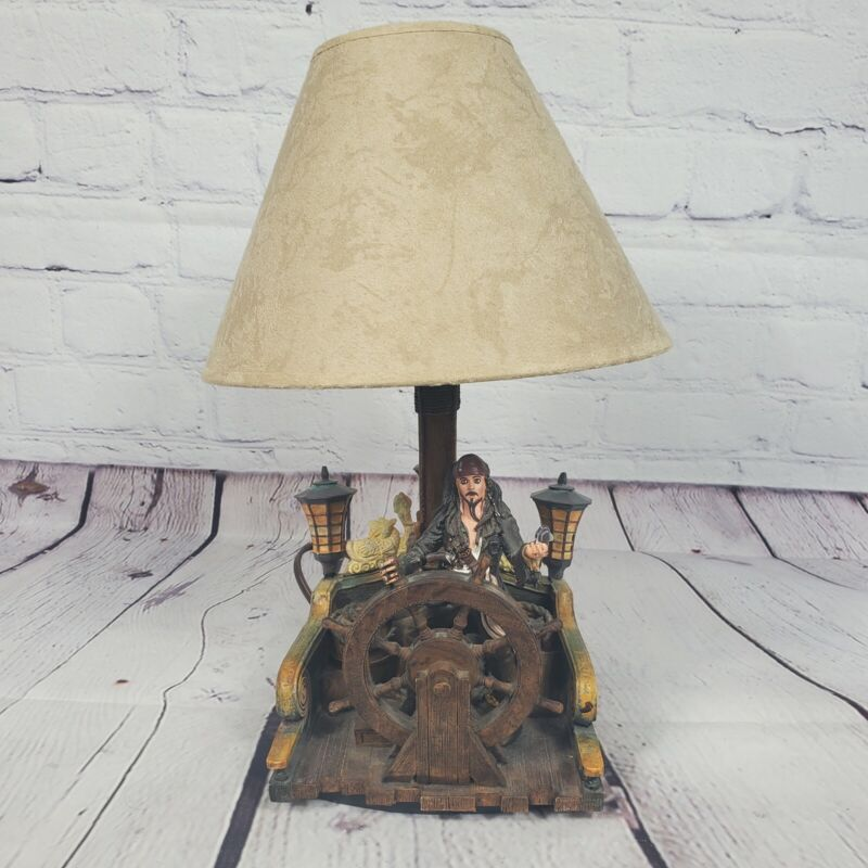 Pirates of the Caribbean Jack Sparrow Table Lamp With Shade And Patch