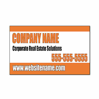 Company Name Corporate Real Estate Corrugated Car Door Magnet Sign-QTY 2 Party Door Sign