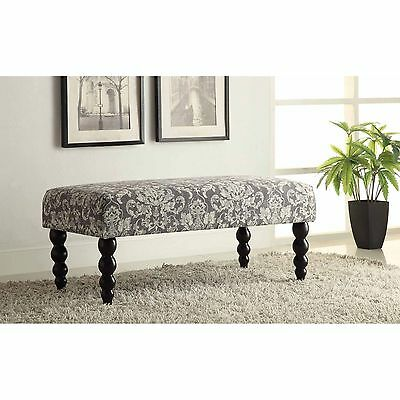 Gray Modern Bench Ottoman Stool Storage Furniture ...