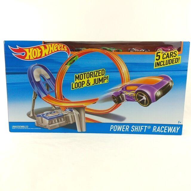 BRAND NEW Hot wheels Power Shift Raceway Motorized Loop & Jump Includes 5 Cars