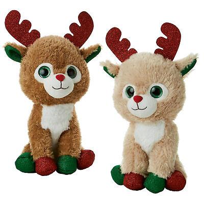 Navidad Peluche Reno - Grande Ojos&Purpurina Detalle - Al Azar Color Enviado