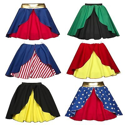 NEW LAYER Superhero Skirts Fancy Dress Costume WOMAN Batwoman ADULTS UK