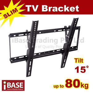 LCD LED PLASMA FLAT TILT TV WALL MOUNT BRACKET 32 40 42 46 50 52 55 60 64 70 75