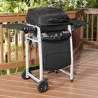 BBQ Pro BBQ Pro 2 Burner LP Gas Grill with Large Side Shelves