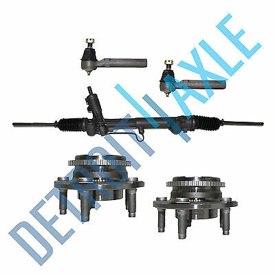 Rack and Pinion Front Wheel Bearings w/ ABS Outer Tie Rods 94-04 Ford Mustang