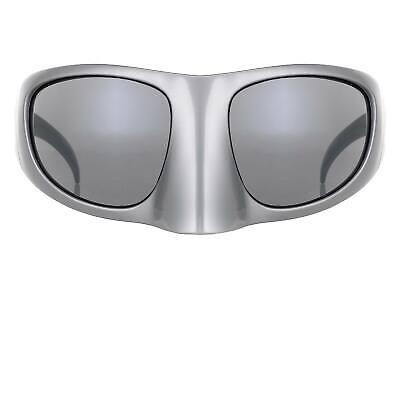 Bernhard Willhelm Silver Mask With Grey Lenses Sunglasses