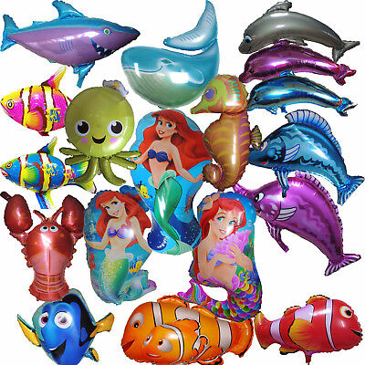 OCEAN SEA FISH BALLOON PRINCESS MERMAID NEMO DORY BIRTHDAY PARTY SUPPLIES GIFT - Fishing Birthday