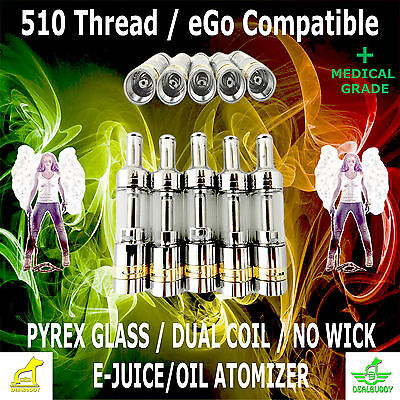 2.0 ML Large Glass Ceramic Oil Refill Top For The 510 Thread Spinner Vision 2 3