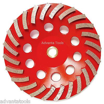 7 Spiral Turbo Concrete Diamond Grinding Cup Wheel 24 Segs 78-58 Arbor