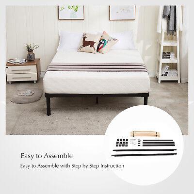 Childs Slat - Full Size Metal Bed Frame Platform Wood Slats Mattress Foundation Kids Bedroom
