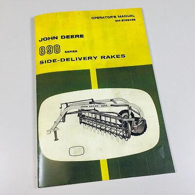 Operators Manual For John Deere 890 Semi Integral Side Delivery Rake
