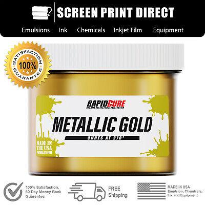 Ecotex Metallic Gold - Premium Plastisol Ink For Screen Printing - 8oz