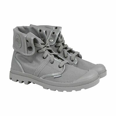 PALLADIUM Pallabrouse Baggy TWR Titanium/Reflective Men's Canvas Boots Metallic