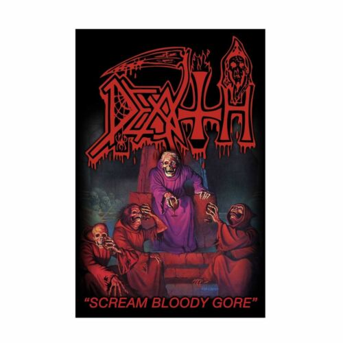 Death Scream Bloody Gore Tapestry Fabric Cloth Poster Flag Music Band Banner