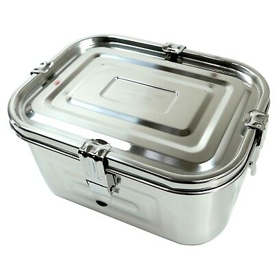 """Stainless Steel Rectangular Kimchi Food Storage Container (3L / 101oz / 9.8"""")"""