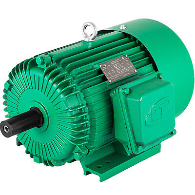 Electric Motor 5 Hp 3 Phase 1750 Rpm 230460 Volt 184t Frame Tefc Severe Duty