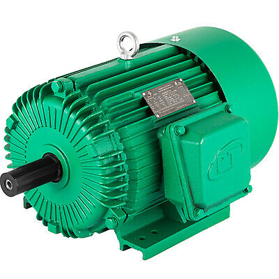 Electric Motor 5 Hp 3 Phase 1750 Rpm 1.125 184t Frame Keyed Shaft Waterproof