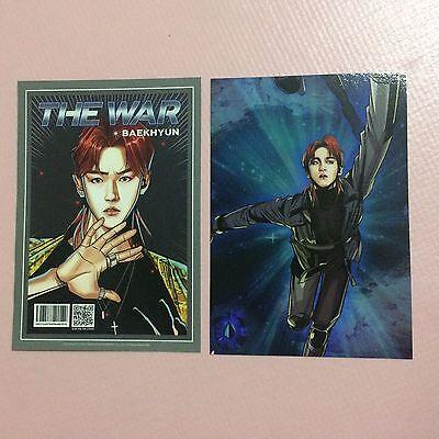 EXO BAEKHYUN 백현 Official ILLUSTRATION PAPER The 4th Album THE WAR KO KO BOP Card