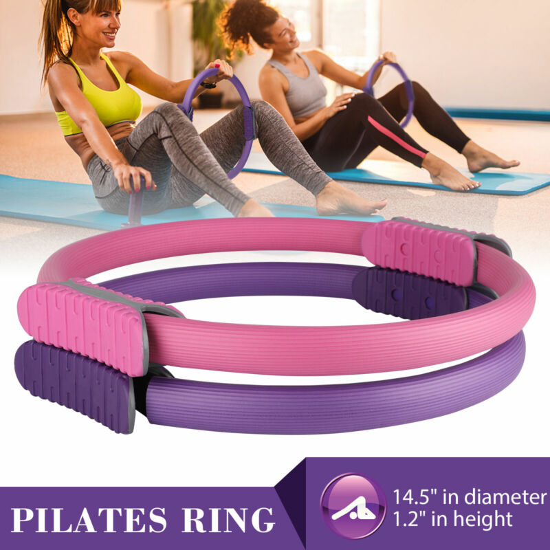 Dual Grip Pilates Ring Yoga Circle Exercise Gym Fitness Body Trainer Magic Tool