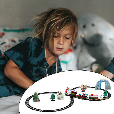Classic Christmas Train Toy Set With Sound Light Smoke For Children Gifts