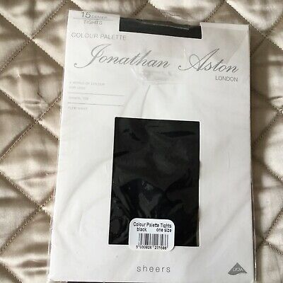Jonathan Aston 15 Denier Sandal Toe Tights Black M/L