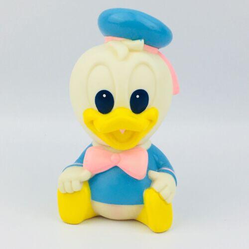 """Vtg Arco Baby Disney Donald Duck 5"""" Rubber Toy 1984 Squeeze Squeak Vinyl Figure"""