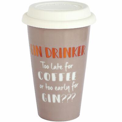 Ultimate Woman Gift Ceramic Travel Mug - Gin Drinker Mum Sister Auntie Gift Ultimate Travel Mug