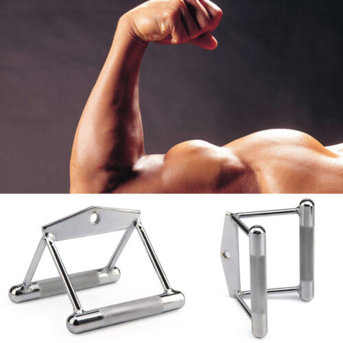 Seated Row V Handle Close Grip Lat Twin Bar Cable Multi Gym Training Attachment