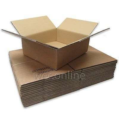 100 x Strong Postal Mailing Cardboard Boxes 16.5 x 14 x 5