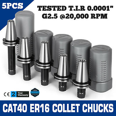 Cat40 Er16 Collet Chucks 5 Pcs W Proj. 2.76-6 Balanced G2.5 20000 Rpm Prime