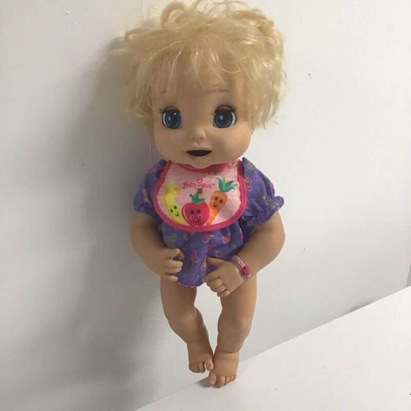 Hasbro Blonde BABY ALIVE 2006 Soft Face Interactive Doll Non Working~