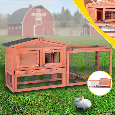 "60""Chicken Coop Waterproof Wood Wooden Hutch Hen House Poultry Pet Nesting Cage"
