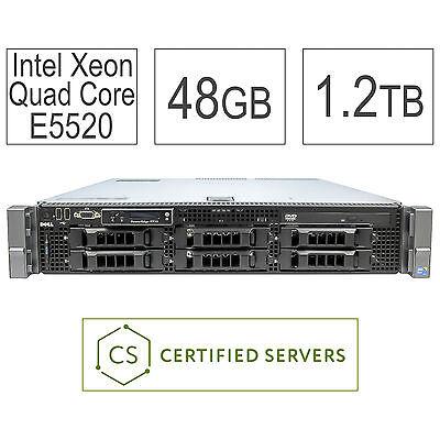 Dell PowerEdge R710 8-Core 48GB 4x 300GB 15K 1.2TB PERC6i Virtualization Server