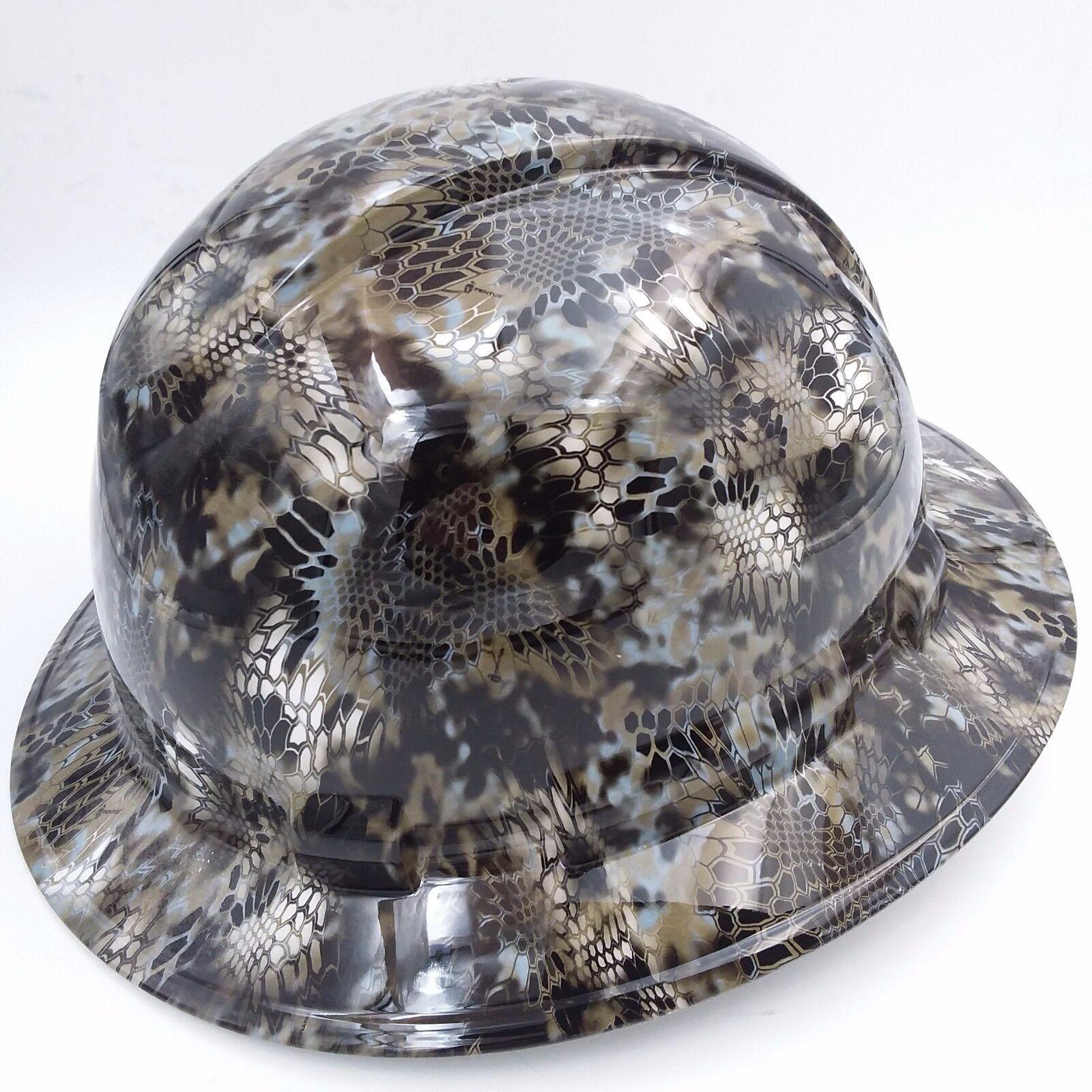 Hard Hat FULL BRIM custom hydro dipped , OSHA approved KRYPTEK NEPTUNE CAMO NEW 1