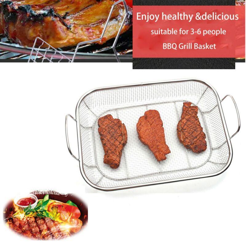 stainless steel vegetable grill basket square veggie