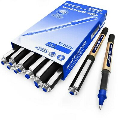Uni-ball Eye Ub-150-10 Broad Liquid Ink Rollerball Pens - 1.0mm - Blue - 12 Pack