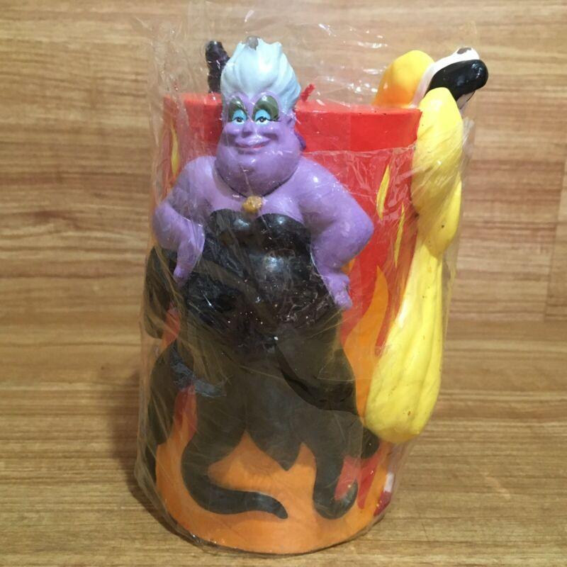Disney Villains Candle Mermaid Ursula Maleficent Cruella Flames Vintage 90s NEW