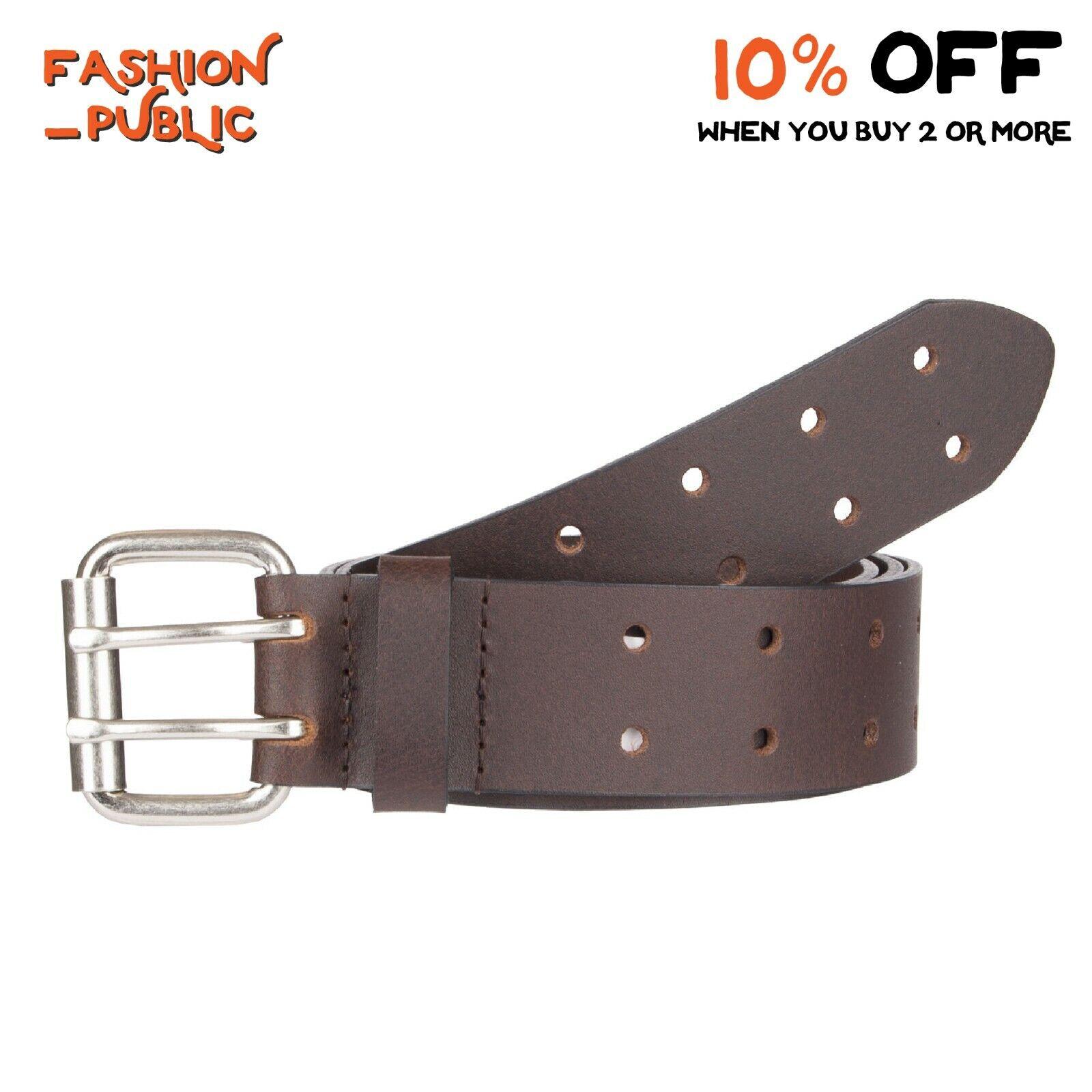 Dickies Men/'s Black Genuine Leather Casual Bridle Belt