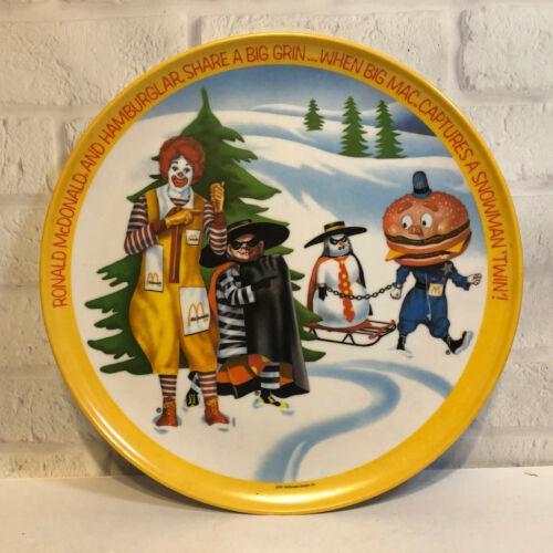 Vintage Ronald McDonald 10 inch Plate Winter Hamburglar 1977