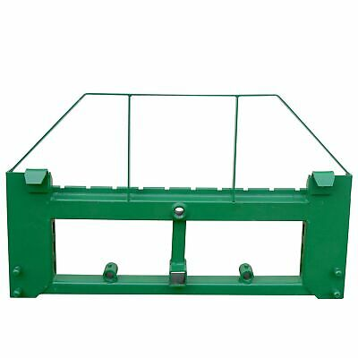 Titan Attachments Pallet Fork Frame With 2 Hitch And Bale Spear Sleeves Fits Jd