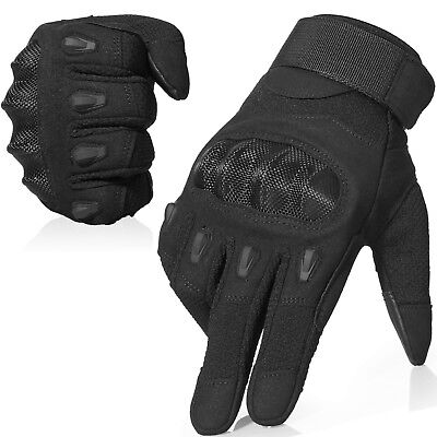 Finger Assault Gloves - Assault Hard Knuckle Full Finger Tactical Gloves Cycling Motorcycle Airsoft Work